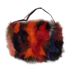 Desmo Italian Colofrul Fur Purse